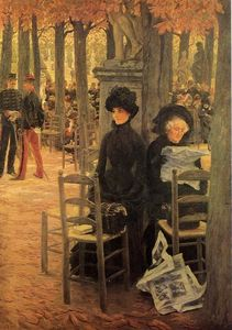 James Jacques Joseph Tissot - Without a Dowry (also known as Sunday in the Luxembourg Gardens)