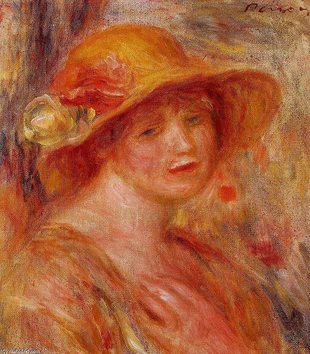 Mujer en un sombrero de paja 2d5dcd2ba4ba