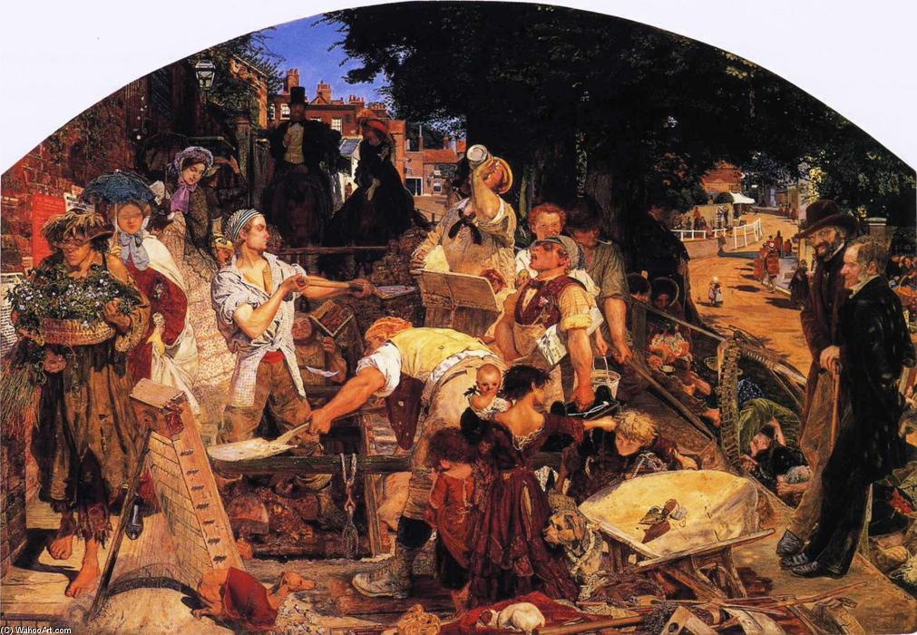 Work by Ford Madox Brown (1821-1893, France) | Paintings Reproductions Ford Madox Brown | WahooArt.com