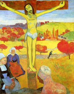 Paul Gauguin - Yellow Christ - (Famous paintings)