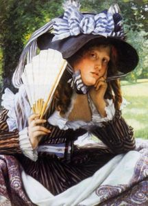 James Jacques Joseph Tissot - Young Lady with a Fan
