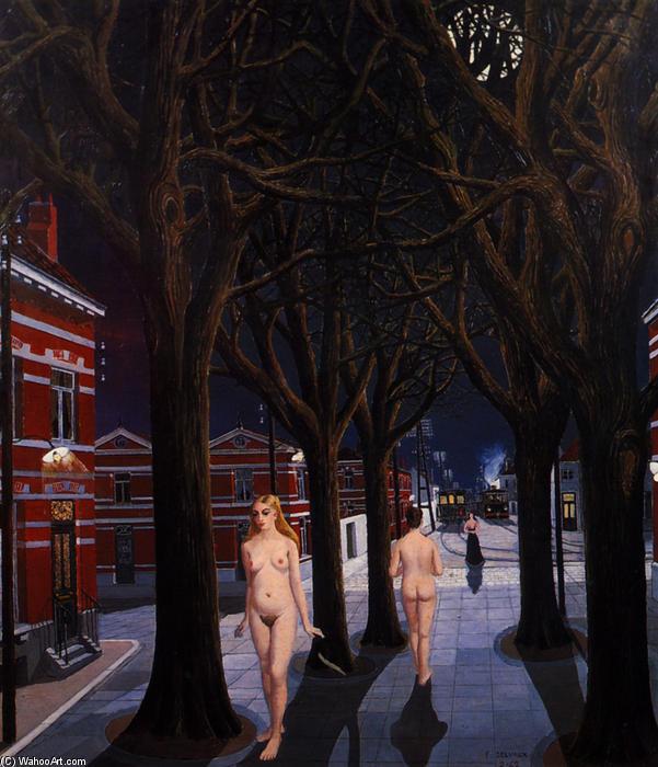 The Beautiful Night , 1962 by Paul Delvaux (1897-1994, Belgium) | | WahooArt.com