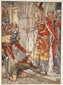 Walter Crane - Young Owen Appeals To The King