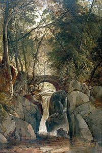 John Berney Ladbrooke - The Waterfall