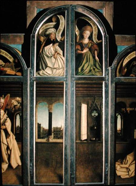 The Ghent Altarpiece - Exterior Of The Left And Right Shutters - Hubert Van Eyck
