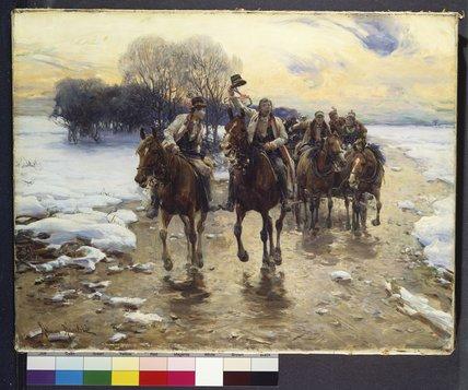 El La Boda Partido De Alfred Wierusz Kowalski 1849 1915