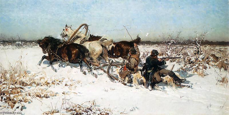 Atacado Carreterasecundaria Lobos De Alfred Wierusz Kowalski