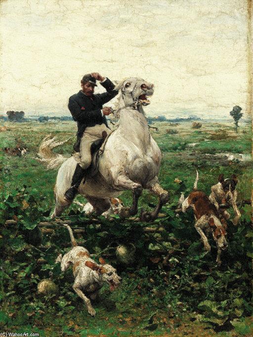Sobre El Valla De Alfred Wierusz Kowalski 1849 1915 Poland