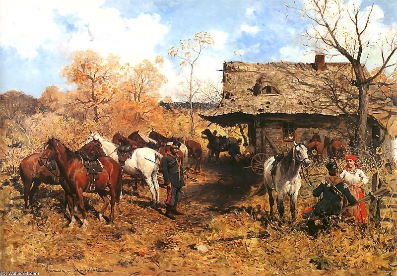 Ulans Detener De Alfred Wierusz Kowalski 1849 1915 Poland