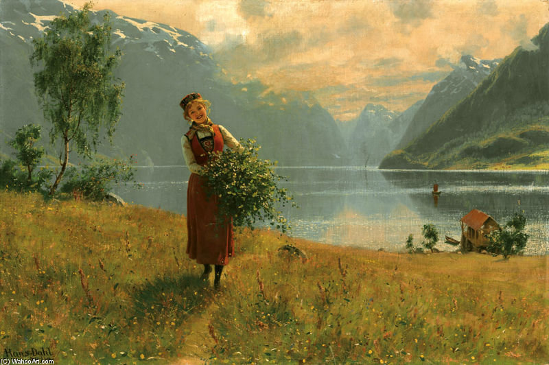 Aus einem norwegischen mädchen