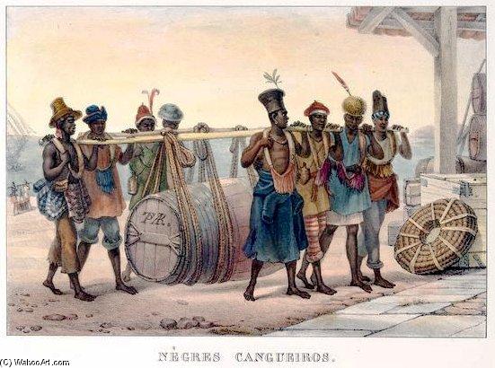Carga Negros . Esclavos en brasil de Jean Baptiste Debret (1768-1848,  France) | Reproducciones De Arte Del Museo Jean Baptiste Debret |  WahooArt.com