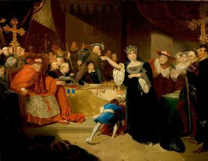 George Henry Harlow - 'henry Viii', Act Ii, Scene 5, The Trial Of Queen Katherine