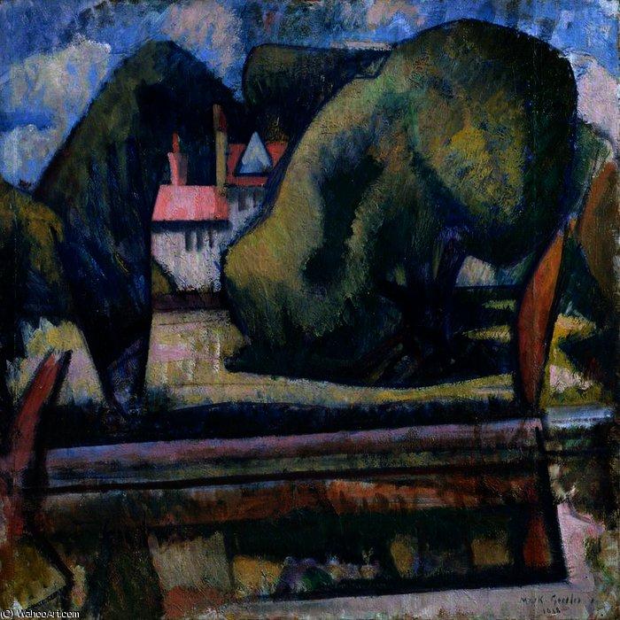 The Pool At Garsington by Mark Gertler (1891-1939, United Kingdom