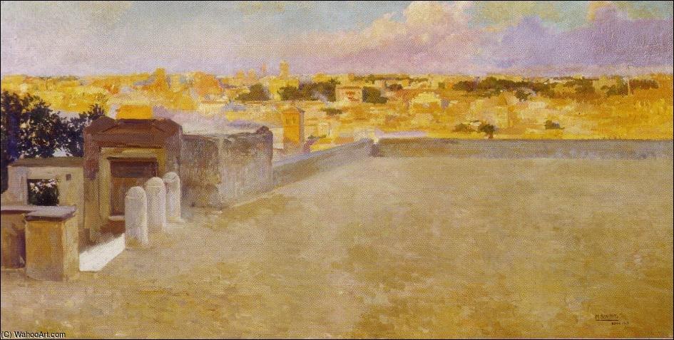 Vista De Roma Desde La Terraza De La Academia By Manuel