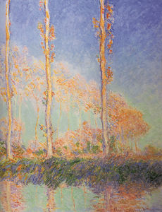 Claude Monet - poplars - (Famous paintings)