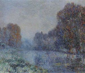 Gustave Loiseau - By the Eure River. Hoarfrost