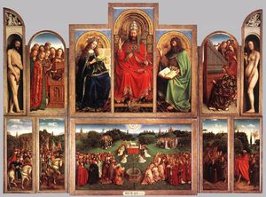 Jan Van Eyck - The Ghent Altarpiece (wings open)