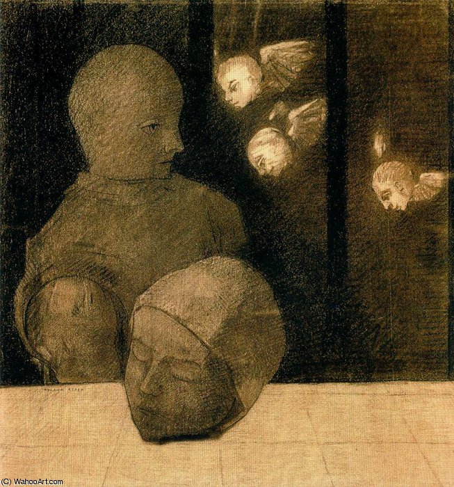 untitled (2340) by Odilon Redon (1840-1916, France) | Museum Quality Copies Odilon Redon | WahooArt.com