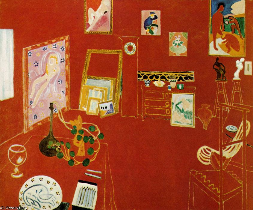 L'Atelier rouge Huile sur Toile - (181x219) - Henri Matisse