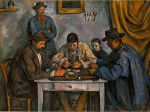 Paul Cezanne - the card players - (oil painting reproductions)
