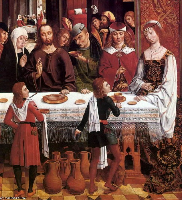 Marriage at Cana (detail) by Master Of The Catholic Kings | Art Reproductions Master Of The Catholic Kings | WahooArt.com