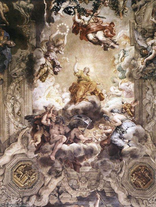c3d1db2879c07 El triunfo de la Divina Providencia (detalle) de Pietro Da Cortona  (1596-1669