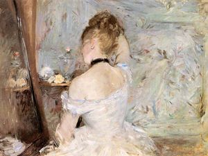 Berthe Morisot - A Woman at her Toilette - (paintings reproductions)