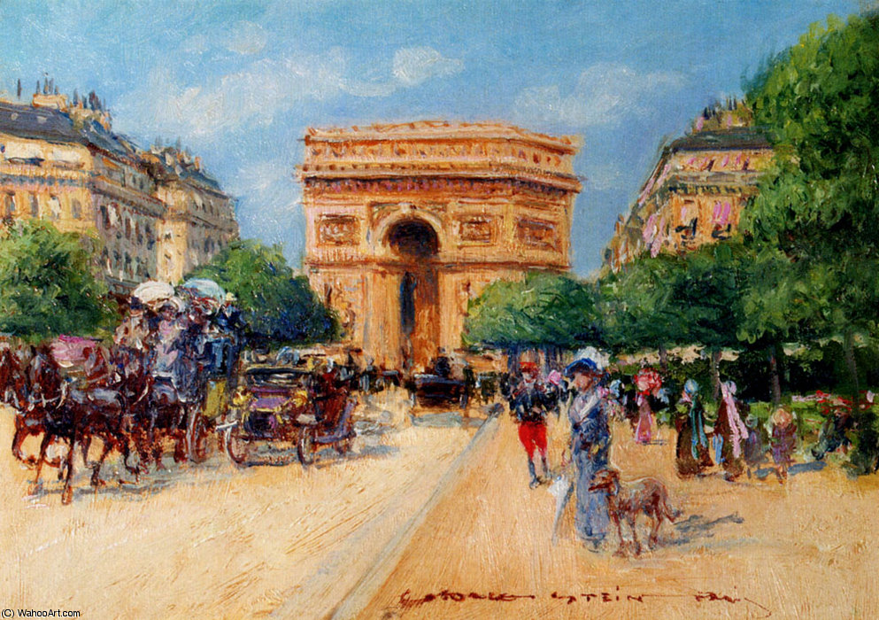 A sunny day in paris by Georges Stein (1818-1890, France) | Art ...
