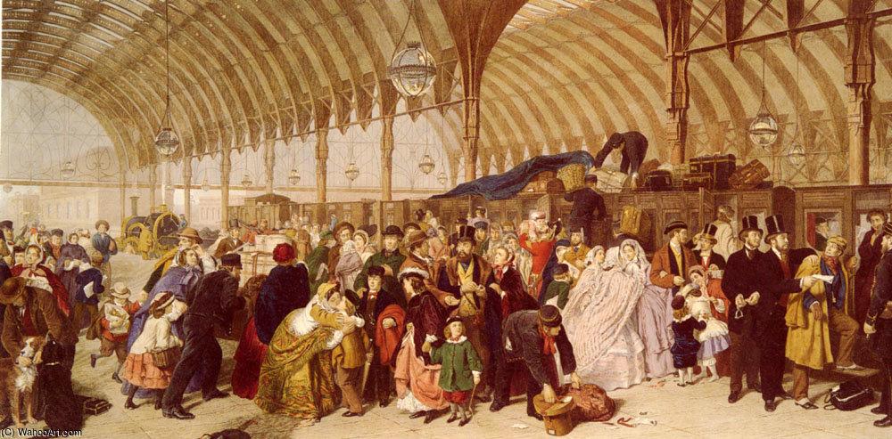 A estação ferroviária por William Powell Frith (1819-1909, United ...