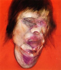 3 Studies for a Portrait of Mick Jagger, center