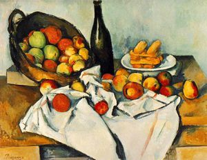 Paul Cezanne - Still life with basket of apples,1890-94, the art in