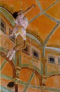 Edgar Degas - Miss Lola, au Cirque Fernando, NG L - (Famous paintings reproduction)