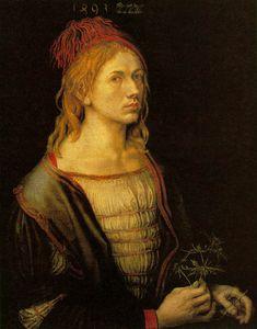 Self-portrait at 22,1493, louvre