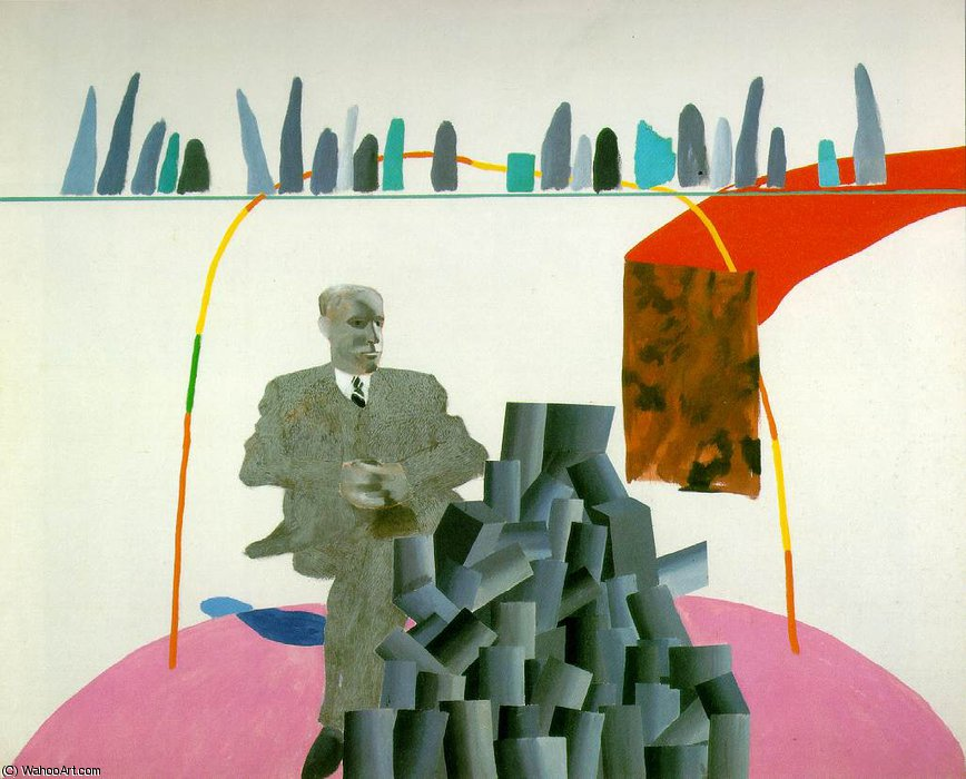 Artistic devices by David Hockney | Famous Paintings Reproductions | WahooArt.com