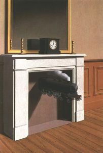 Rene Magritte - Time transfixed,1938, art institute of chicago