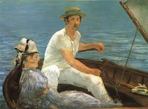 Edouard Manet - Boating, Metropolitan Museum of Art, New York - (Famous paintings reproduction)