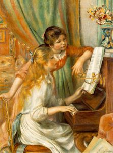 Pierre-Auguste Renoir - Juenes filles au piano (Girls at the Piano),