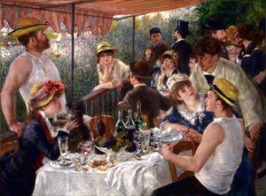 Pierre-Auguste Renoir - Luncheon of the Boating Party - (paintings reproductions)