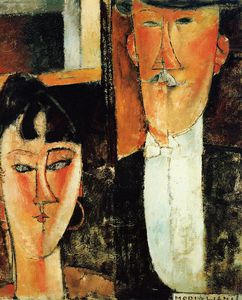Amedeo Modigliani - Bride and Groom (The Newlyweds)