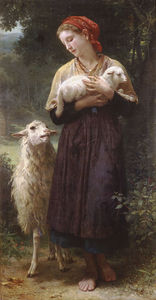William Adolphe Bouguereau - The newborn lamb