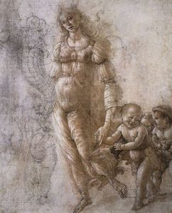 Sandro Botticelli - drawings - Allegory of Abundance