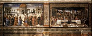 Cosimo Rosselli - Scenes on the left wall