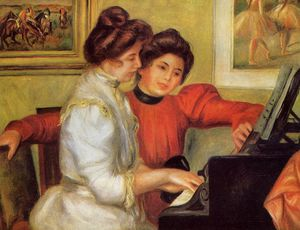 Pierre-Auguste Renoir - Yvonne and Christine Lerolle at the Piano