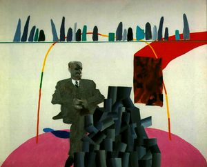 David Hockney - Portrait Surrounded by Artistic Devices
