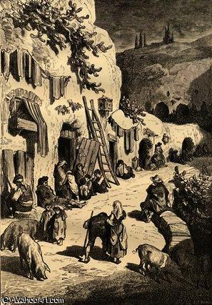 Gypsy caves, sacro monte, granada, spain by Paul Gustave