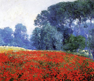 Guy Rose - Poppy field, (1910)