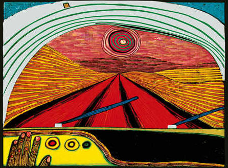 The Way to You by Friedensreich Hundertwasser (1928-2000, Austria) | Oil Painting | WahooArt.com