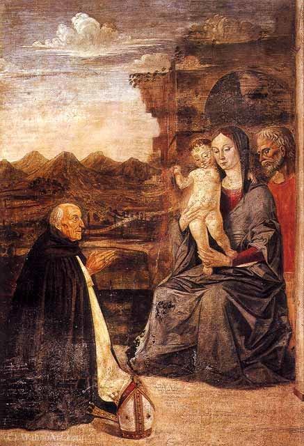 La Pittura Moderna Imola.Sagrada Familia Con El Obispo Domenico Da Imola Catedral De