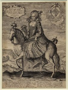 Crispijn Van De Passe - The High and Mightie and most vertuous Princesse Anne Queene of Great Britaine France and Ireland