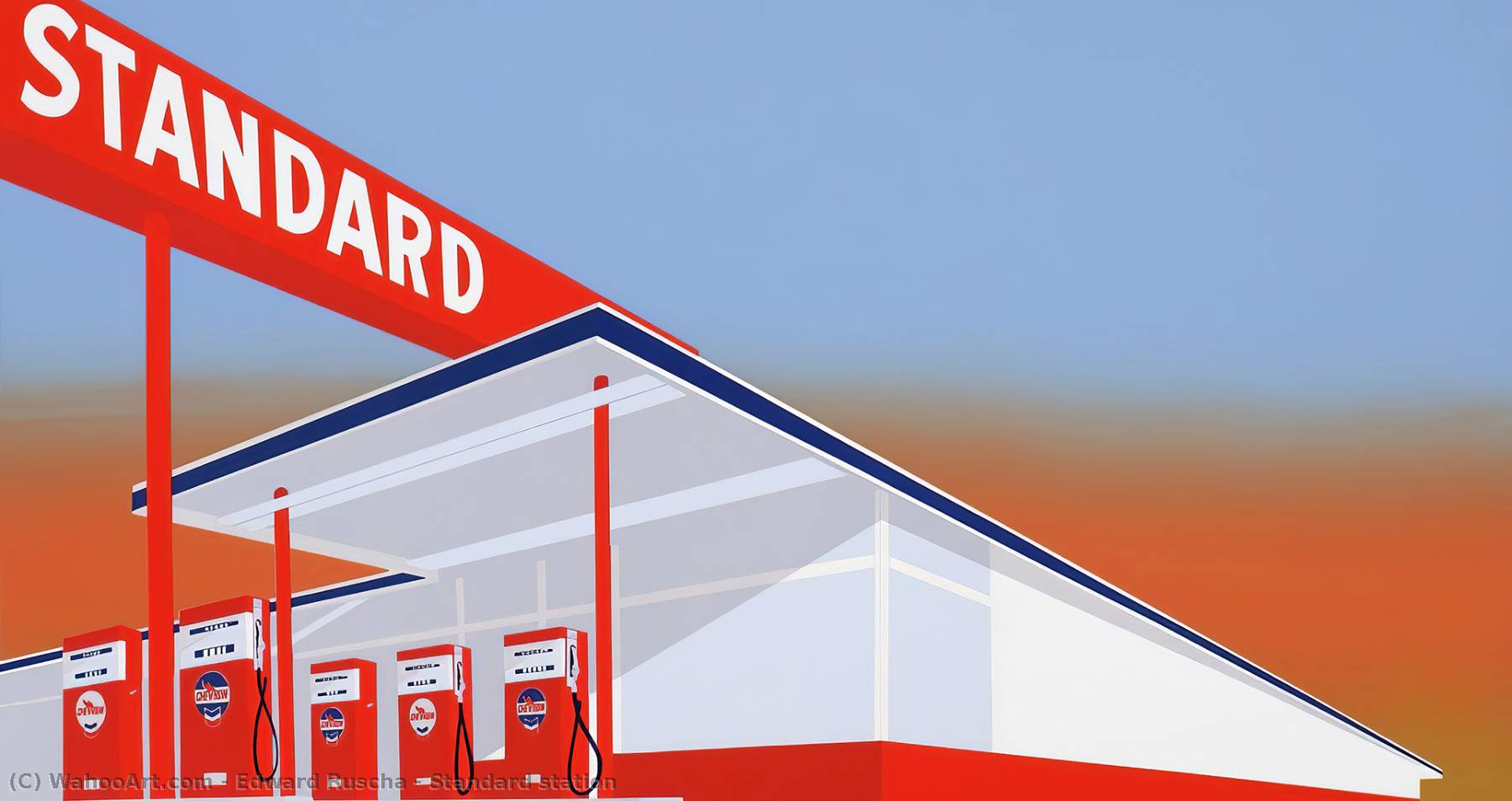 Standard station, 1966 by Edward Ruscha | Museum Quality Reproductions | WahooArt.com